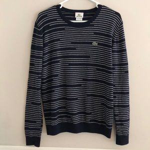 Lacoste | Striped Pure Wool Sweater Size 5